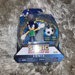 Sonic the hedgehog with soccer ball